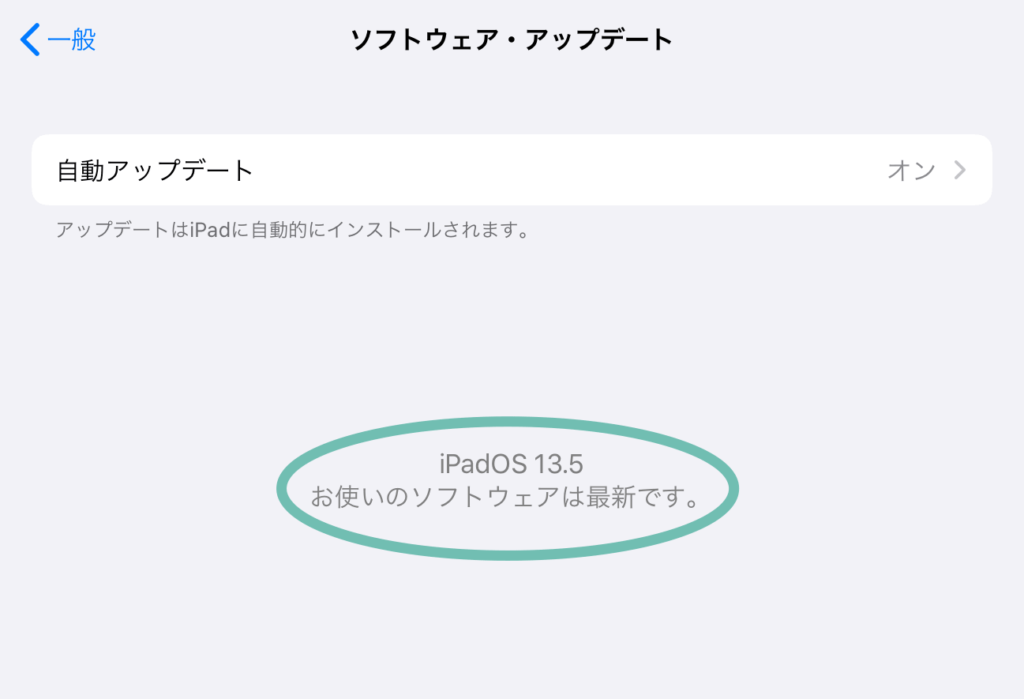 記事作成時点での私のiPadはiPadOS13.5でした。